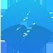 Logotipo de raio azul