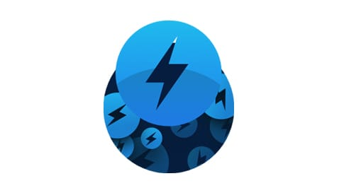 Blue lightning bolt logo