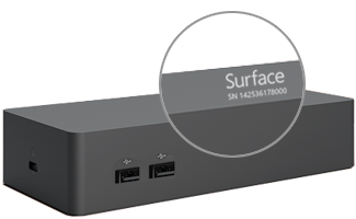 Serial number on Surface Dock