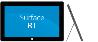 Surface RT: delantera y lateral