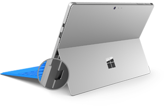 microSD card slot on Surface Pro 4