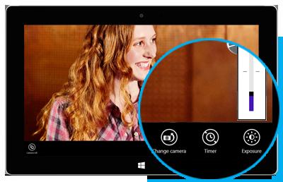 Paramètres de l'application Caméra