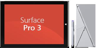 Surface Pro3 – Front- und Seitenansicht