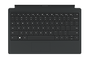 Power Cover for Surface with touch-sensitive keyboard.