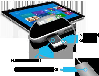 Inserting Nano SIM into Surface 3 (4G-LTE)