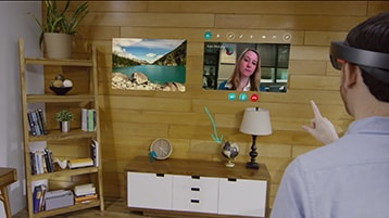 A still image of the Skype Undo video with play icon