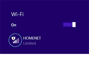 Limited network connectivity