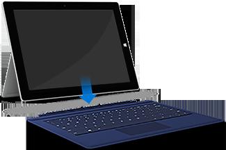 Le clavier Cover s'enclenche en position par aimantation