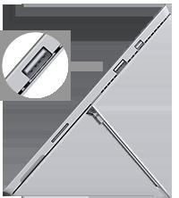 USB port location on Surface Pro 3