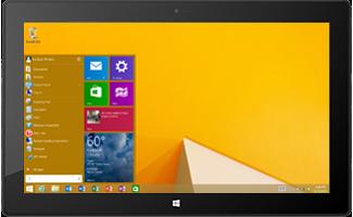 Windows RT Start menu