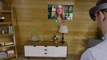 A still image of the Skype Ink Mode video with play icon