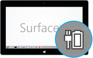 Battery icon while Surface is charging