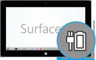 ไอคอนแบตเตอรี่ขณะที่ Surface กำลังชาร์จ