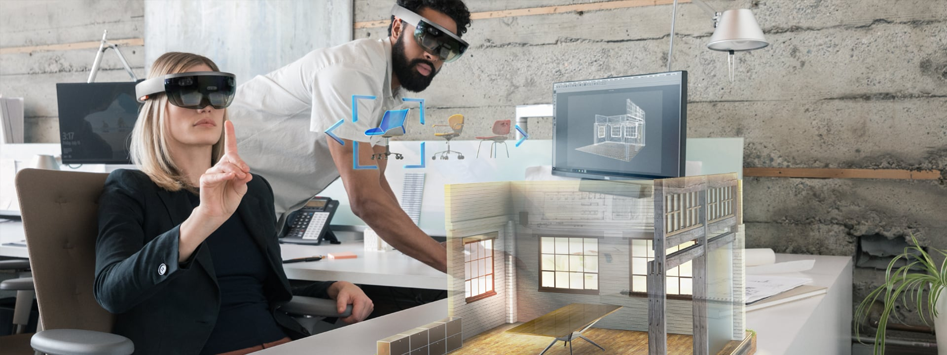 Architects use HoloLens to create a 3D architectural model in mixed reality