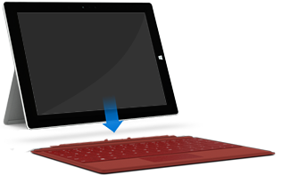 Connect cover to Surface 3