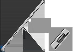 USB port location on Surface Pro 4
