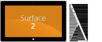 Surface 2: delantera y lateral
