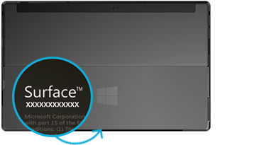 Find The Serial Number On Microsoft Surface Surface