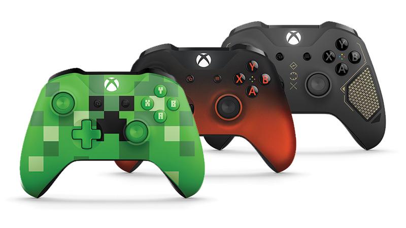 Minecraft Creeper controller, volcano shadow controller, Recon Tech controller.