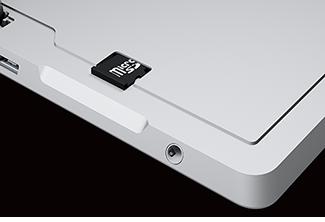 MicroSD card slot on Surface 3