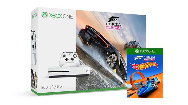 Maak je Xbox One S 500 GB compleet met Forza Horizon 3 en Hot Wheels DLC