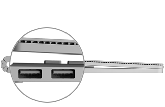USB port location on Surface Book