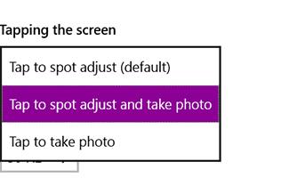 Opciones de autoenfoque en Surface 3