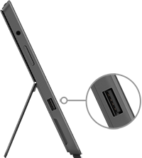 USB port location on Surface Pro and Surface Pro 2