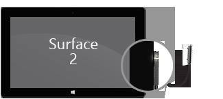 Conector eléctrico en Surface 2