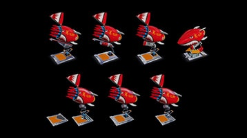 A still image from the Young Conker Missile concepts video with play icon