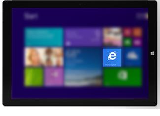 Internet Explorer tile on Start screen