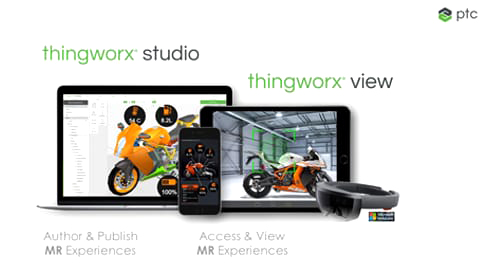 ThingWorx Studio experience on PC, phone, and tablet