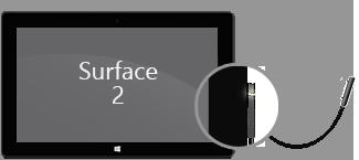 Stromkabel am Surface 2