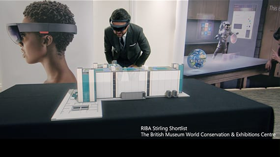 HoloLens を使用して建築家が自分で建てた建築物を眺める