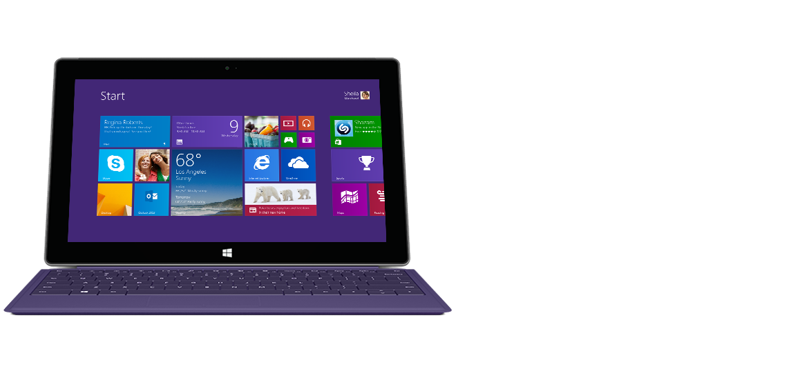 Surface tablet with backlit Type Cover 2.