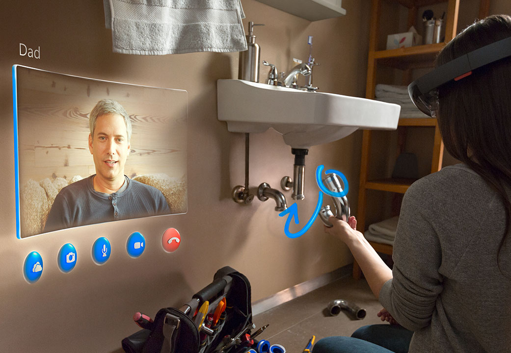 Microsoft HoloLens and Skype