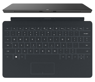 The Surface keyboard clicks in to place