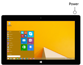 Power button on Surface RT and Surface 2
