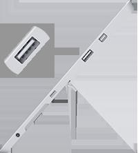 USB port location on Surface 3
